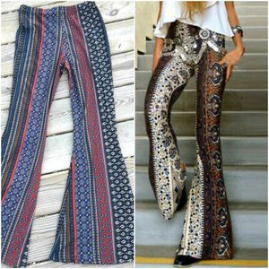 Bell Bottom Pants Boho Hippie Leggings Flared